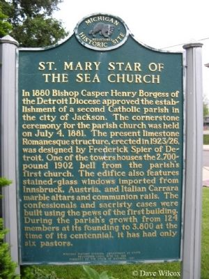 St. Mary Star of the Sea Church Marker image. Click for full size.