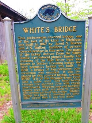 White's Bridge Marker Photo, Click for full size