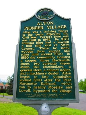 Alton Pioneer Village Marker (Side Two) image. Click for full size.
