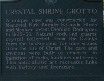 Crystal Shrine Grotto Marker image. Click for full size.