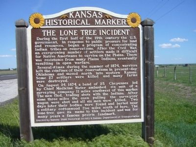 The Lone Tree Incident Marker image. Click for full size.