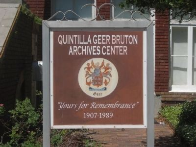 Quintilla Geer Burton Archives Center image. Click for full size.