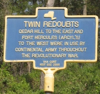 Twin Redoubts Marker image. Click for full size.