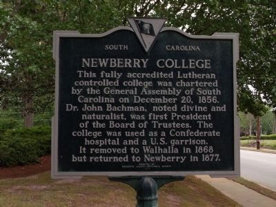 Newberry College Marker image. Click for full size.