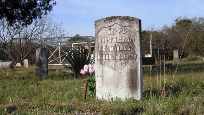 Grave of Scout Robert Kibbetts (note old style government headstone) image. Click for full size.