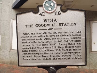 WDIA Marker image. Click for full size.