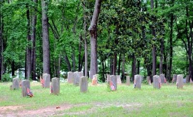 Confederate Graves in the Utoy Primitive Baptist Church Cemetery image. Click for full size.