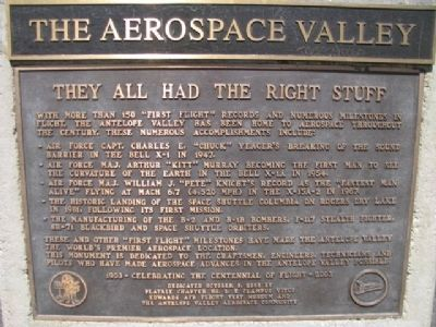 The Aerospace Valley Marker image. Click for full size.