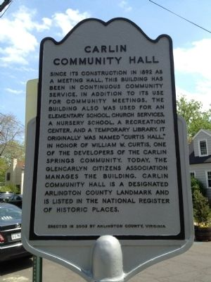 Carlin Community Hall Marker image. Click for full size.