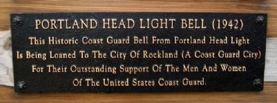Portland Head Light Bell (1942) Marker Photo, Click for full size