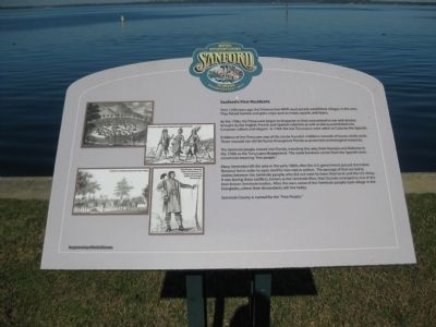 Sanford's First Residents Marker image. Click for full size.
