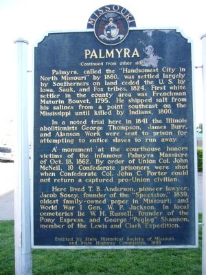 <i>Side B:</i> Palmyra Marker Photo, Click for full size