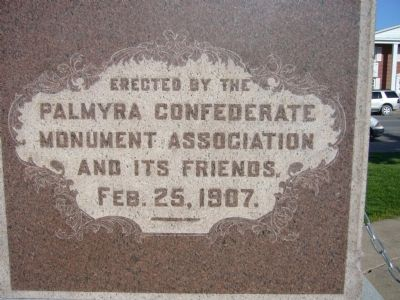 <i>Right side of:</i> Palmyra Confederate Monument image. Click for full size.