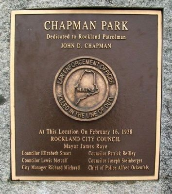 Chapman Park Marker image. Click for full size.