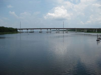 The St. Johns River exiting Lake Monroe image. Click for full size.