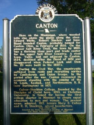<i>Side A:</i> Canton Marker image. Click for full size.