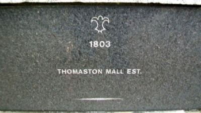 Thomaston Historical Timeline Marker image. Click for full size.