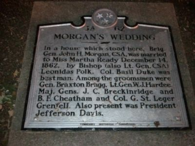 Morgan's Wedding Marker image. Click for full size.