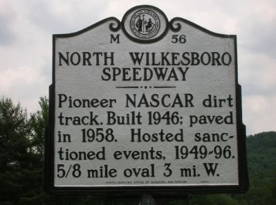 North Wilkesboro Speedway Marker image. Click for full size.