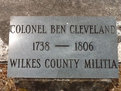 Colonel Ben Cleveland Marker image. Click for full size.
