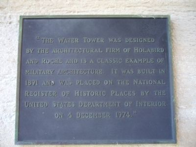 The Water Tower Marker image. Click for full size.