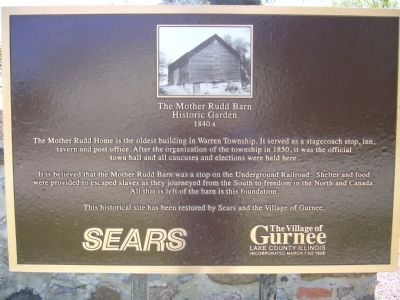 The Mother Rudd Barn Marker image. Click for full size.