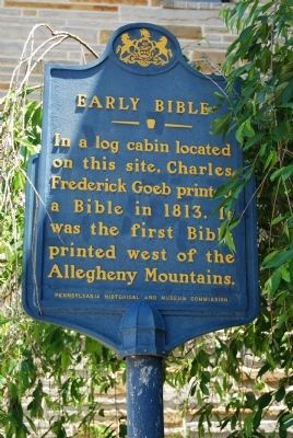 Early Bible Marker image. Click for full size.