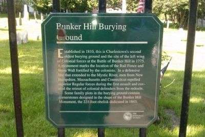 Bunker Hill Burying Ground Marker image. Click for full size.