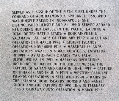 Panel Two - - USS Indianapolis CA-35 Marker Photo, Click for full size