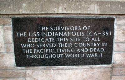 Survivors Dedication Plaque Photo, Click for full size