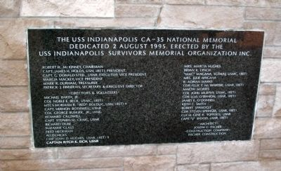 National Memorial Dedication Plaque Photo, Click for full size