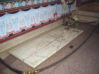 Grave of King Peter II at St. Sava Monastery image. Click for full size.