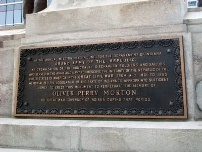 Plaque Two - - Oliver Perry Morton Marker image. Click for full size.