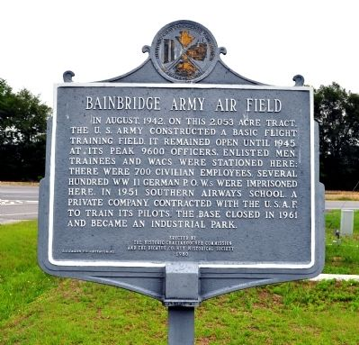 Bainbridge Army Air Field Marker image. Click for full size.