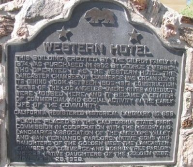 Western Hotel Marker image. Click for full size.