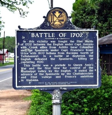 Battle of 1702 Marker image. Click for full size.