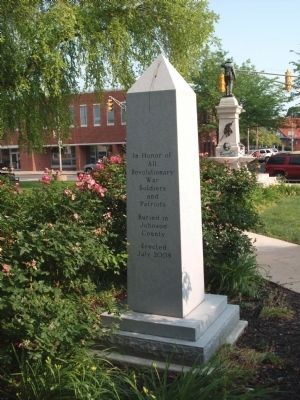 Side One - - Johnson County Revolutionary War Memorial Marker image. Click for full size.