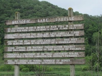 Historic Lake Labelle Marker image. Click for full size.