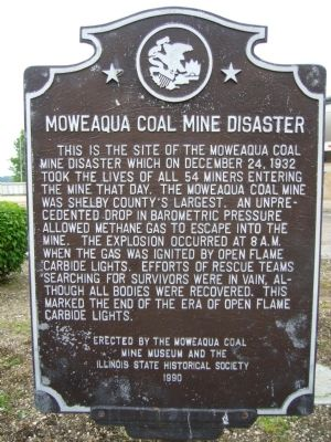 Moweaqua Coal Mine Disaster Marker image. Click for full size.