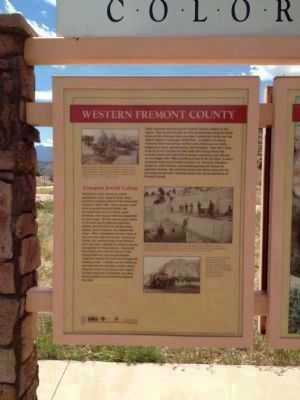 Rainbow Route / Western Fremont County Marker - Side B image. Click for full size.