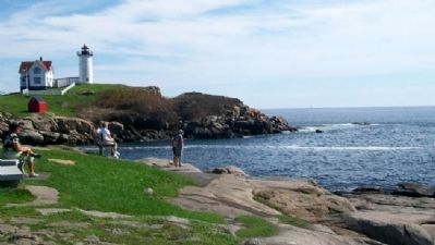 View of Rocky Shore Along Cape Neddick image. Click for full size.