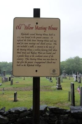 Old Yellow Meeting House Marker image. Click for full size.