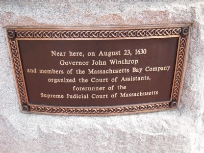 Court of the Assistants Marker image. Click for full size.