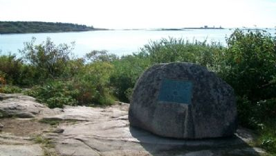 The Battle of Cape Porpoise (Goat Island) Marker image. Click for full size.