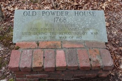 Old Powder House 1768 Marker image. Click for full size.