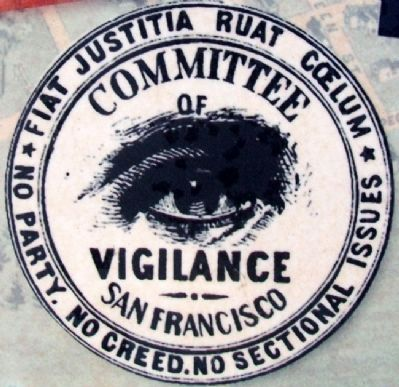 Symbol of the Committee of Vigilance image. Click for full size.