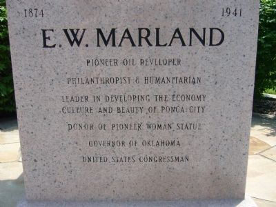 E. W. Marland Marker image. Click for full size.