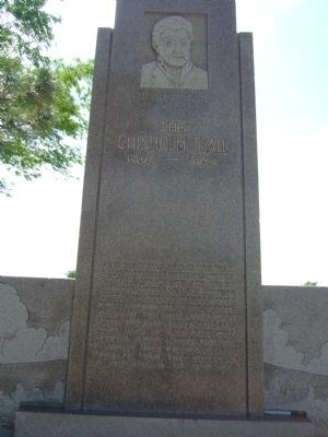 The Chisholm Trail Marker image. Click for full size.