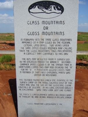 Glass Mountains or Gloss Mountains Marker image. Click for full size.