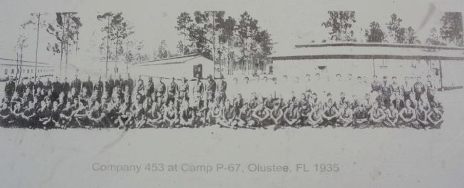 left photo- Company 453 at Camp P-67 image. Click for full size.